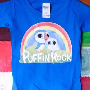 Puffin Rock Oona Baba Printed Unisex Youths Short Sleeve T-Shirt Kids T-Shirt Tops